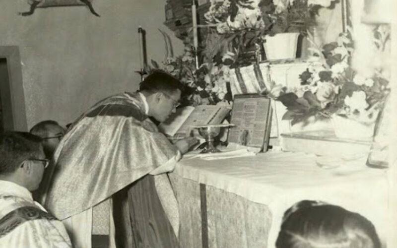 June 8, 1958: First Mass of Friar Alphonse Gallegos